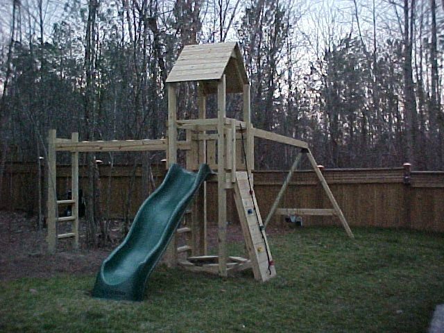This Challenger Set Includes The 10u0027 Slide, Monkey Bars, Rock Wall With Climbing  Rope, Ladder, Sandbox, And 3 Swings. The Cost On This Challenger Set Is ...